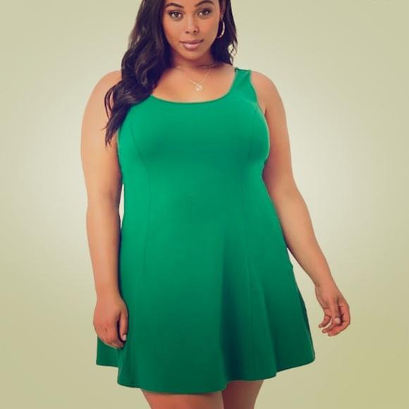 Plus Size Fit & Flare Mini Dress NWT